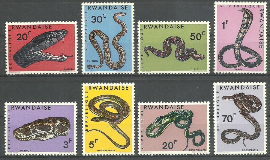 Rwanda 1967 Mi 201-208 Czyste **