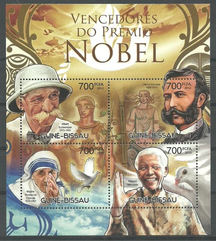 Guinea-Bissau 2012 Mi ark 6102-6105 MNH