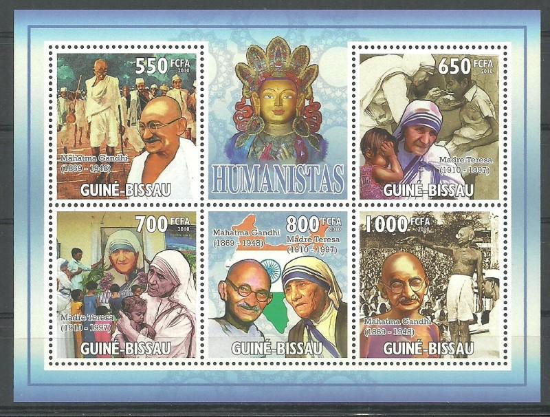 Guinea-Bissau 2010 Mi ark 4822-4826 MNH