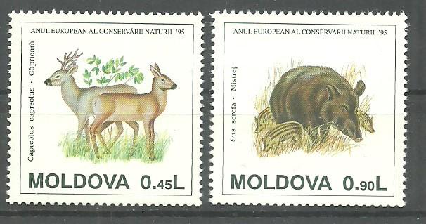 Mołdawia 1995 Mi 158+160 Czyste **