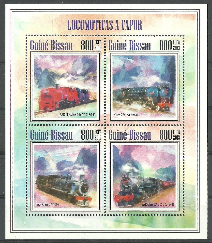 Guinea-Bissau 2013 Mi ark 6971-6974 MNH