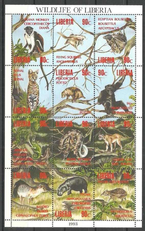 Liberia 1993 Mi ark 1546-1575 MNH