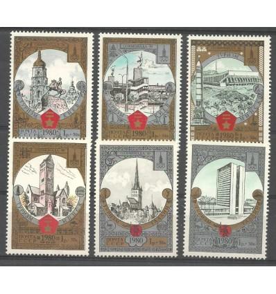 ZSRR 1980 Mi 4949-4954 Czyste **
