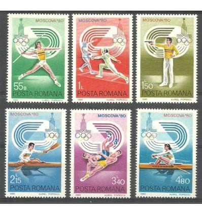 Rumunia 1980 Mi 3733-3738 Czyste **