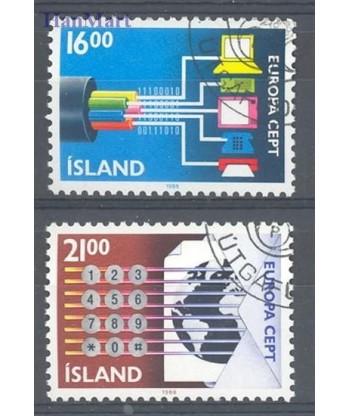 Islandia 1988 Mi 682-683 Stemplowane