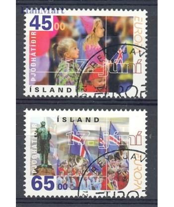 Islandia 1998 Mi 890-891 Stemplowane