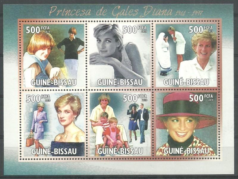 Guinea-Bissau 2010 Mi ark 5120-5125 MNH