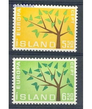 Islandia 1962 Mi 364-365 Czyste **