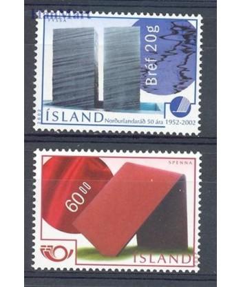 Islandia 2002 Mi 1005-1006 Czyste **