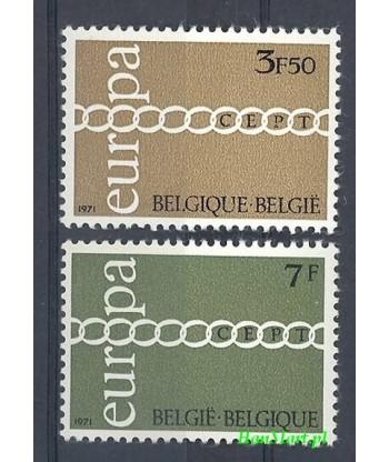 Belgia 1971 Mi 1633-1634 Czyste **