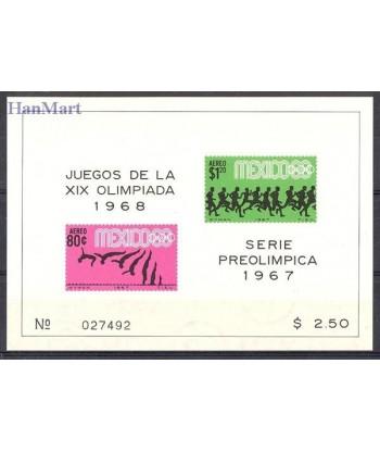 Meksyk 1967 Mi bl 9 Czyste **