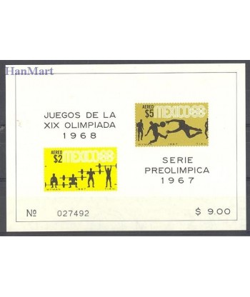 Meksyk 1967 Mi bl 10 Czyste **