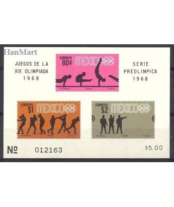 Meksyk 1968 Mi bl 12 Czyste **