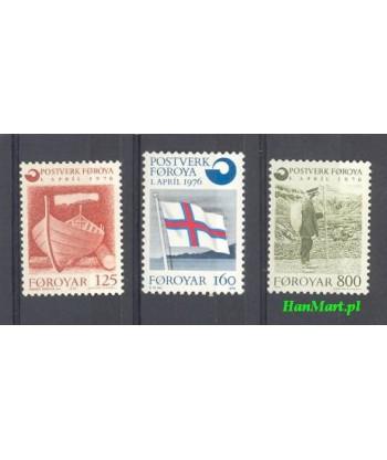 Wyspy Owcze 1976 Mi 21-23 Czyste **