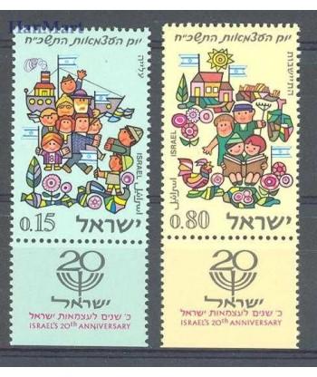 Izrael 1968 Mi 420-421 Czyste **