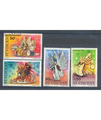 St Vincent 1982 Mi 630-633 Czyste **