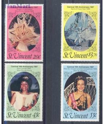 St Vincent 1987 Mi 1030-1033 Czyste **