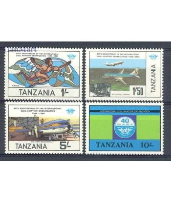 Tanzania 1984 Mi 246-249 Czyste **