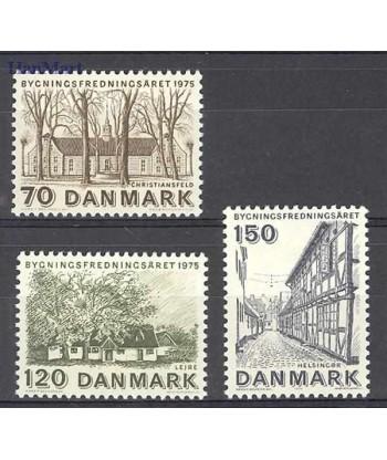 Dania 1975 Mi 592-594 Czyste **