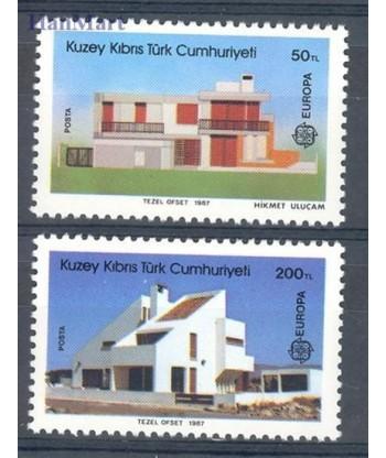 Cypr Turecki 1987 Mi 205-206 Czyste **