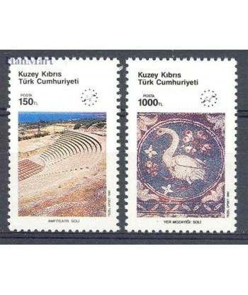 Cypr Turecki 1990 Mi 283-284 Czyste **