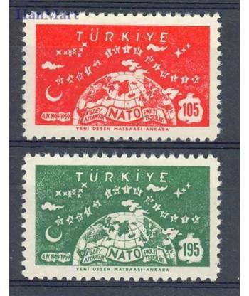 Turcja 1959 Mi 1621-1622 Czyste **