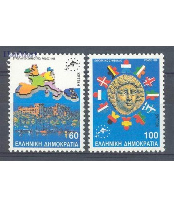 Grecja 1988 Mi 1715-1716 Czyste **