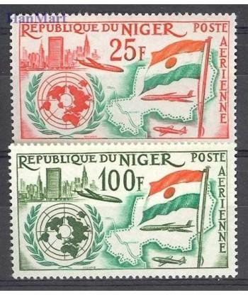 Niger 1961 Mi 18-19 Czyste **