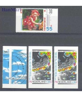 Holandia 1990 Mi 1379c+1380d+1381d+e Czyste **