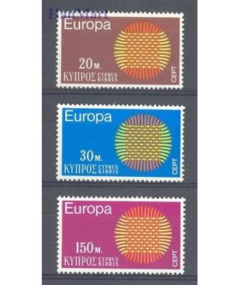 Cypr Grecki 1970 Mi 332-334 Czyste **