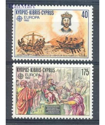 Cypr Grecki 1982 Mi 566-567 Czyste **