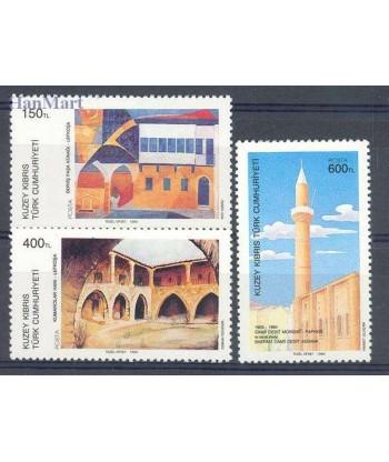 Cypr Turecki 1989 Mi 246-248 Czyste **