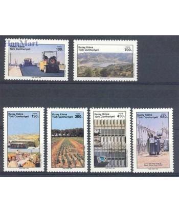 Cypr Turecki 1989 Mi 256-261 Czyste **