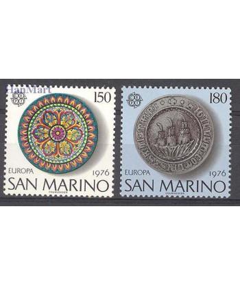 San Marino 1976 Mi 1119-1120 Czyste **