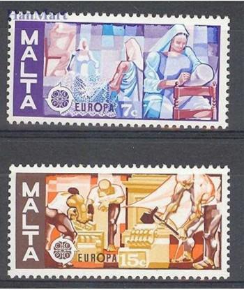 Malta 1976 Mi 532-533 Czyste **