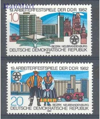 Niemiecka Republika Demokratyczna / DDR 1982 Mi 2706-2707 Czyste **