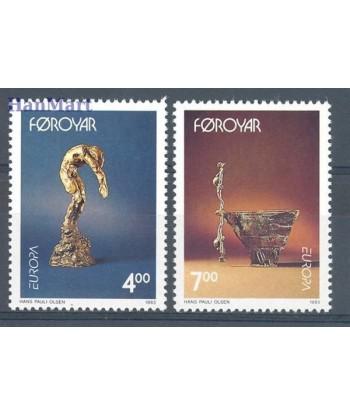 Wyspy Owcze 1993 Mi 248-249 Czyste **