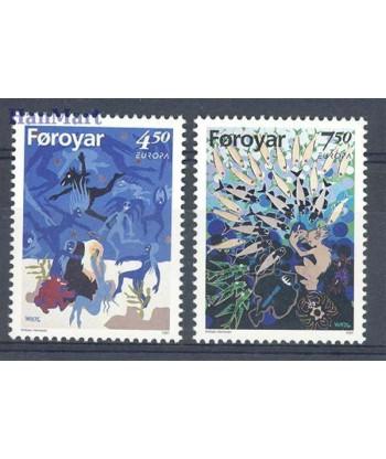 Wyspy Owcze 1997 Mi 317-318 Czyste **