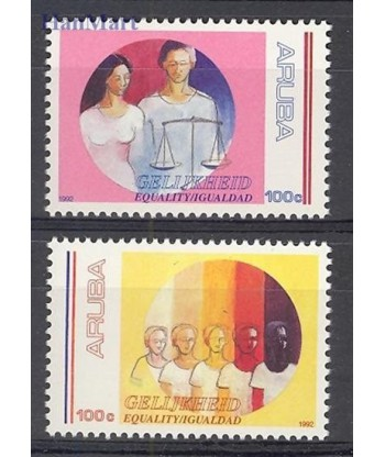 Aruba 1992 Mi 106-107 Czyste **