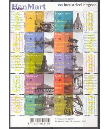 Holandia 2002 Mi 2033-2042 Czyste **