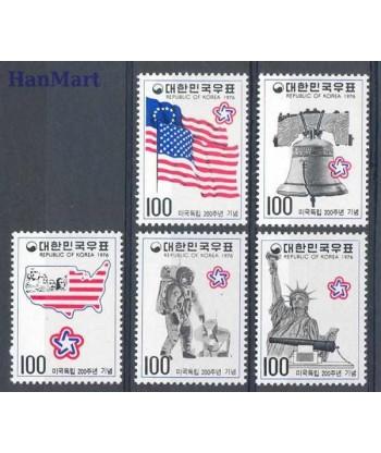 Korea Południowa 1976 Mi 1038-1042 Czyste **