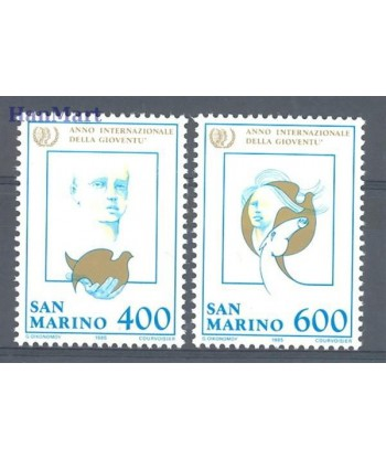 San Marino 1985 Mi 1321-1322 Czyste **