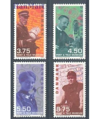Dania 1998 Mi 1182-1185 Czyste **