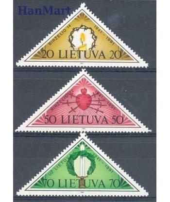 Litwa 1991 Mi 477-479 Czyste **