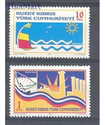 Cypr Turecki 2005 Mi 614-615 Czyste **