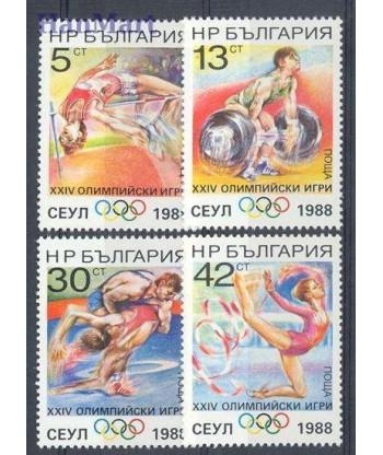 Bułgaria 1988 Mi 3679-3682 Czyste **