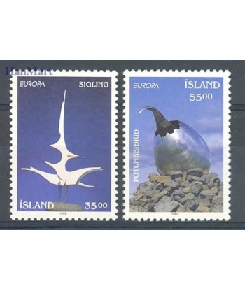 Islandia 1993 Mi 786-787 Czyste **