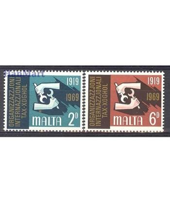 Malta 1969 Mi 387-388 Czyste **