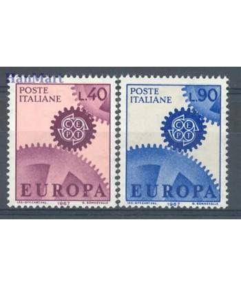 Włochy 1967 Mi 1224-1225 Czyste **