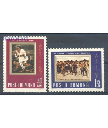 Rumunia 1967 Mi 2592-2593 Czyste **